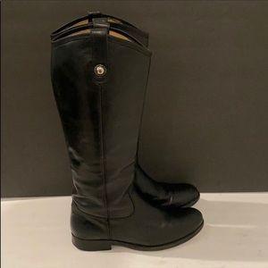 Authentic Frye vintage black leather boots sz 6.5